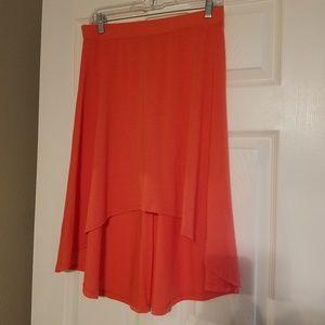 Dresses & Skirts - Super soft coral high low skirt sz L